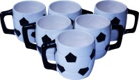 Buyer's Beach Cool FIFA-Cup (Black) Set Of-6 (Black, White, Pack Of 6)