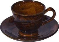 LUCINA LUCINA Tea Cup And Saucer Bone China -Set Of 12 31 (Multicolor, Pack Of 12)