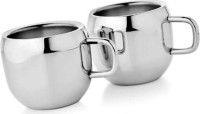 Dynamic Store Set Of 2 Double Wall Apple Cups DS_142 (Steel, Pack Of 2)