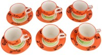 LUCINA LUCINA Tea Cup And Saucer Bone China -Set Of 12 24 (Multicolor, Pack Of 12)