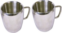 Dynamic Store Set Of 2 Double Wall Apple Mugs DS_148 (Steel, Pack Of 2)