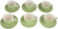 LUCINA LUCINA Tea Cup And Saucer Bone China -Set Of 12 7 (Multicolor, Pack Of 12)