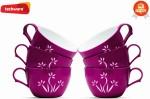 Techware Microwavable Tea Cups WF13115 Purple