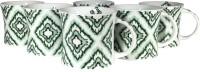 Cdi Bone China Tea Coffee Mugs Magnificent Green (White, Pack Of 6)