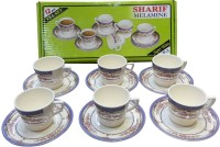 Sharif Melamine Tea Set P1 (Multicolor, Pack Of 12)