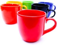 Buyer's Beach Elegant Multicolor Cup Set Of-6 (Multicolor, Pack Of 6)