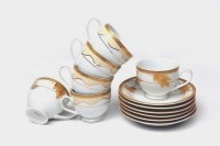 Lakline Lakline Porcelain Cups & Saucers - 80104 (White, Pack Of 12) 80104 (White, Pack Of 12)