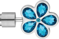 Windows Classic Five Crystral Flower Design Curtain Poles (Pack Of 2)