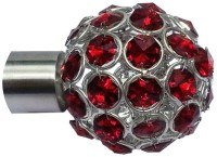 Windows Classic Red Crystal Finial Curtain Poles (Pack Of 2)