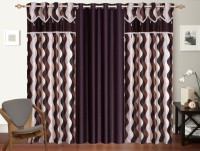 Shop 24 Decor Polyester Brown Printed Curtain Window Curtain 152 Cm In Height, Pack Of 3 - CRNEH3GVCHXYJQZC