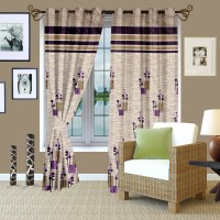 Story @ Home Jacquard Brown Window Curtain 215 Cm In Height, Single Curtain