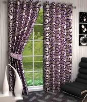 K Decor Polyester Purple Printed Eyelet Door Curtain 213 Cm In Height, Single Curtain - CRNEFF6XWUQNZJFJ