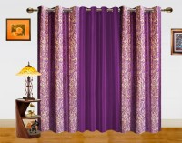 Dekor World 100% Polyester Window Curtain (Pack Of 3, 59 Inch/150 Cm In Height)