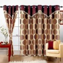 Cortina Print Drape Window Curtain - Pack Of 2