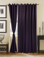 S9home By Seasons Polyester Purple Abstract Eyelet Long Door Curtain 274.32 Cm In Height, Pack Of 2