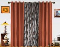 Dekor World Waves In The Air With Solid Door Curtain - Pack Of 3 - CRNDXM38UXM2ZZUZ