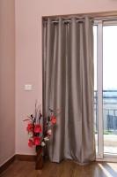 ZappyCart Polyester Steel Grey Door Curtain 244 Cm In Height, Single Curtain