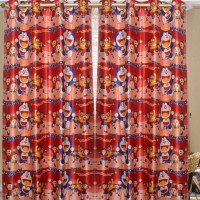 Homefab India Printed Maroon Long Door Curtain (Pack Of 2)