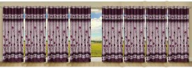 Stella Creations Polyester Red Printed Eyelet Long Door Curtain