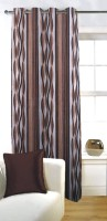 Fabutex Polyester Door Curtain (Single Curtain, 82 Inch/210 Cm In Height, Brown)