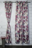 Bloom Polyester Multicolor Door Curtain 213.36 Cm In Height, Single Curtain