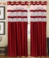 Decor Vatika Polyester Maroon Door Curtain 214 Cm In Height, Single Curtain