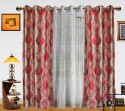 Dekor World Illusion Waves With Sheer Door Curtain - Pack Of 3