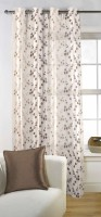 Fabutex Tissue Multicolor Embroidered Window Curtain 152 Cm In Height, Single Curtain