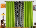 Dekor World Circle Bonanza With Solid Window Curtain - Pack Of 3 - CRNDXM38ZEQF5AYZ