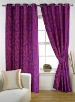 Story @ Home Polyester Purple Door Curtain 203.28 Cm In Height, Pack Of 2