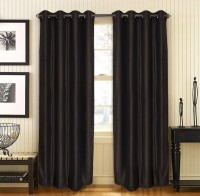 Home Fashion Gallery Polyester Brown Plain Eyelet Window Curtain 152.4 Cm In Height, Pack Of 6