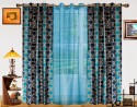 Dekor World Circle Bonanza With Sheer Door Curtain - Pack Of 3