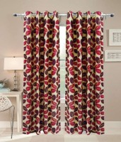 Hargunz 100% Polyester Door Curtain (Pack Of 2, 33 Inch/84 Cm In Height)