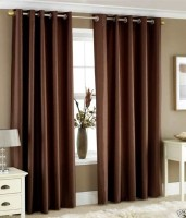 D?cor Vatika Crush (7 Feet) Door Curtain (Pack Of 2)