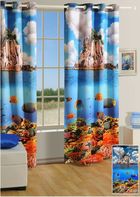 Swayam Digitally Printed Cosmo Fashion Door Curtain - CRNDUH4AQFKFYDNK