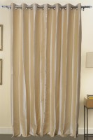 ZappyCart Polyester White Door Curtain 214 Cm In Height, Single Curtain