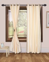 VS Collection Polyester Door Curtain (Single Curtain, 83 Inch/213 Cm In Height, Beige)