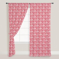 Smart Home Textile Cotton Red Door Curtain 210 Cm In Height, Single Curtain - CRNE7NHRYVTXCF29