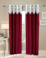 Giriraj Bichona Polyester MULTICOLOUR Plain Eyelet Door Curtain 212 Cm In Height, Single Curtain