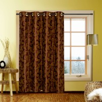 Kings Blends Multicolor Floral Eyelet Window Curtain 121 Cm In Height, Pack Of 10