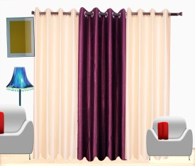 Fresh From Loom Polyester Multicolor Plain Curtain Window Curtain