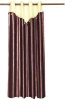 Zikrak Exim Polyester Brown Door Curtain 215 Cm In Height, Single Curtain