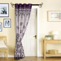Story @ Home Jacquard Burgandy Door Curtain 215 Cm In Height, Single Curtain