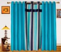 Dekor World Ultimate Stripes With Solid Window Curtain - Pack Of 3