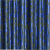 JH Decore Polyester Blue Printed Eyelet Door Curtain 215 Cm In Height, Single Curtain