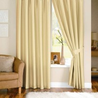 Pindia Polyester Door Curtain (Single Curtain, 84 Inch/214 Cm In Height, Beige)