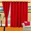 Cortina Plain Crush Door Curtain - Pack Of 2 - CRNDXV337FFEKEHB