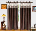 Dekor World Batik Jacquard Window Curtain - Pack Of 2