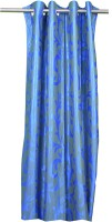 Trendy Home Polyester Blue Door Curtain 210 Cm In Height, Single Curtain
