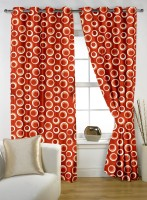 Story @ Home Polyester Multicolor Door Curtain 210 Cm In Height, Single Curtain - CRNE4KMDMP8YJ8ND